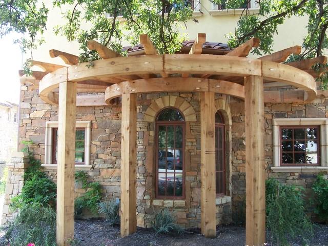rustic wood arbor designs 2