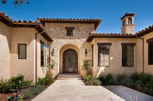 What is exterior stucco color for Mediterranean stucco