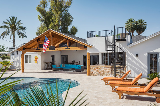 Arcadia Remodel - Tropical - Exterior - Phoenix - by AFT ... on Arcadia Backyard Designs id=78156