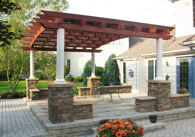 Arched Pergola - Traditional - Exterior - other metro - by Forever Redwood