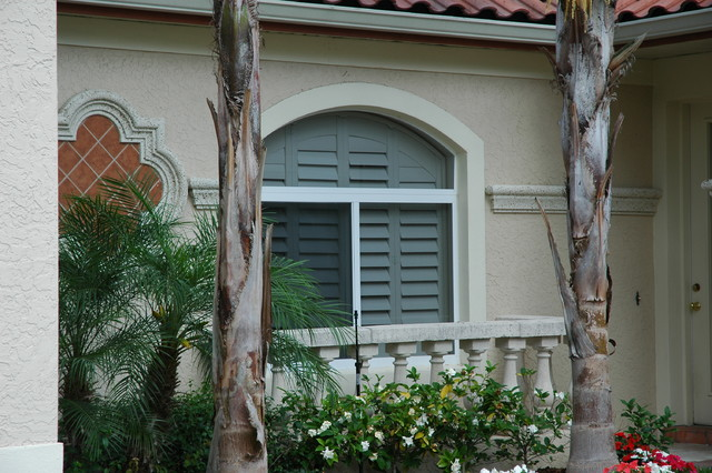 Arched Shutters Mediterranean Exterior Orlando By Dbs By Ginger Llc