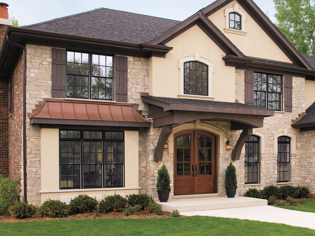 Architect Series® Wood Entry Doors and Pella® ProLine Windows - Traditional - Exterior - by ...