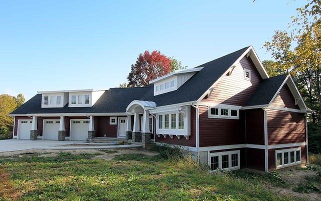 Exclusive Red Cottage - Plan 18260BE traditional-exterior