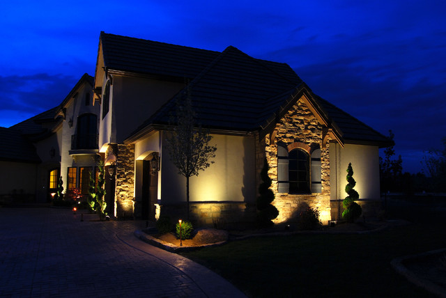 Architectural Lighting Eclectic Exterior Indianapolis