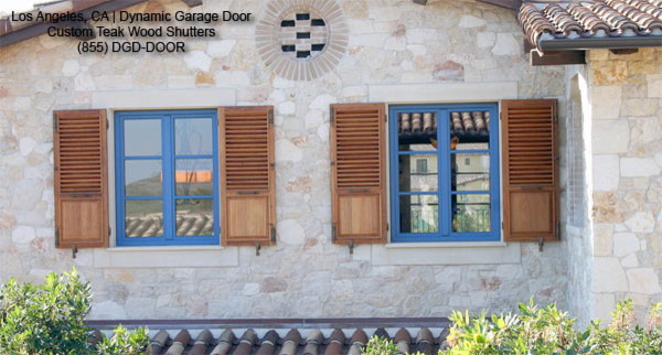 Architectural Shutters Crafted In Solid Teak Mediterranean Exterior Los