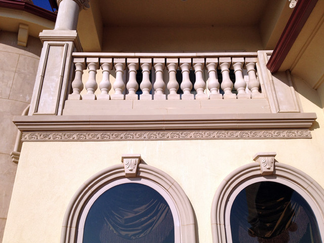 Exterior Architectural Accents : Architectural trim and accents mediterranean exterior