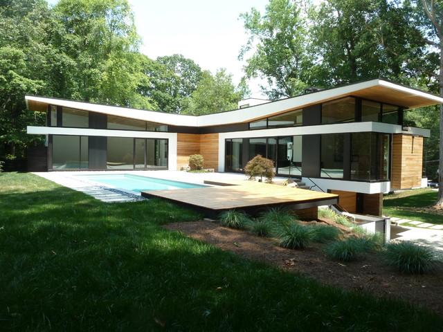 Argonne residence back exterior modern exterior for 70s house exterior