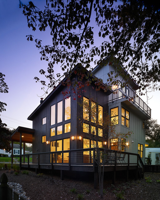 Example of a trendy exterior home design in DC Metro