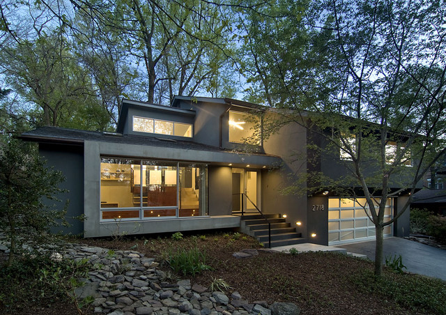 Arlington residence contemporary exterior dc metro for Split level house remodel