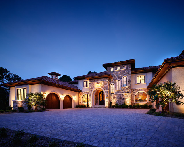 Around town traditional exterior charlotte by for Passarelli custom homes