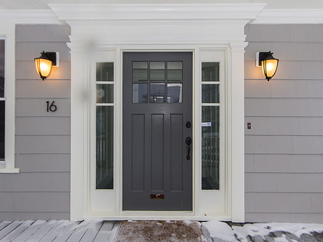 Black Door With Side Light : Arts crafts covent renovation craftsman exterior