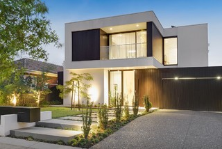 75 Most Popular Exterior With A Flat Roof Design Ideas For October 2020 Stylish Exterior With A Flat Roof Remodeling Pictures Houzz Au