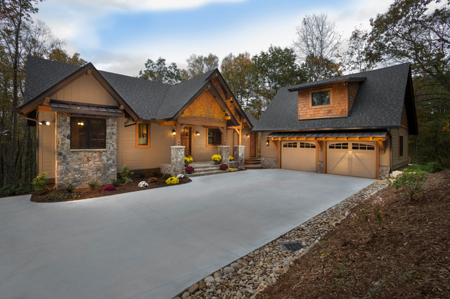 Asheville Mountain Craftsman Custom Home Craftsman