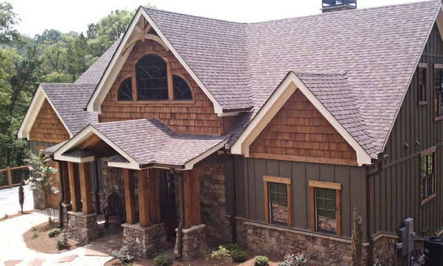 Asheville mountain home house plan traditional for Traditional home exterior design