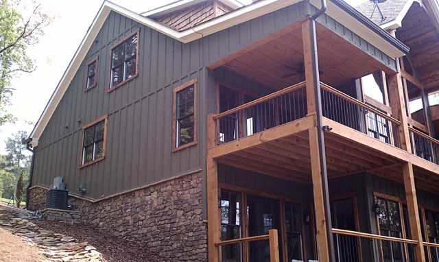 Asheville mountain home for Mountain home plans with walkout basement