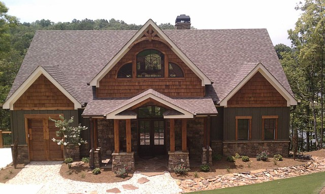 Asheville mountain home for Mountain style home plans
