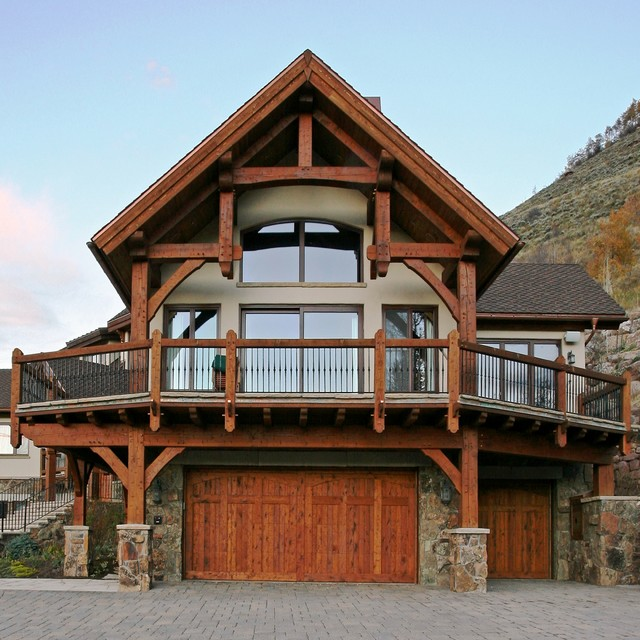 Aspen Grove Lane Vail Timber Frame House Traditional Exterior