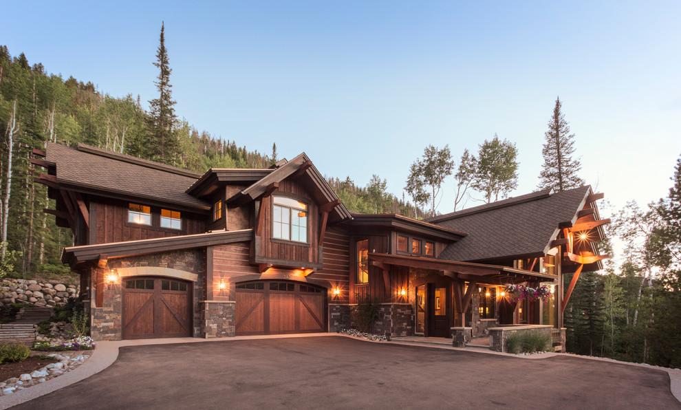 Inspiration for a rustic exterior home remodel in Denver