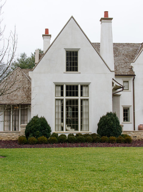 Asymmetrical french eclectic traditional exterior for French eclectic house plans