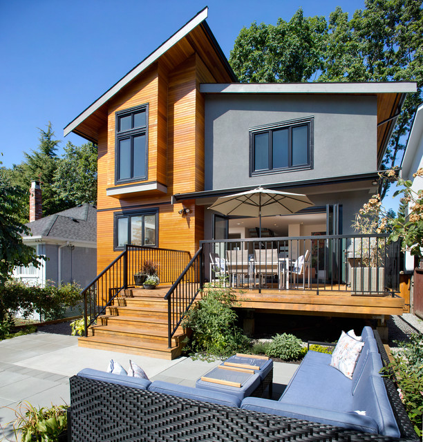 30 Contemporary Home Exterior Design Ideas: Asymmetrical Overhaul