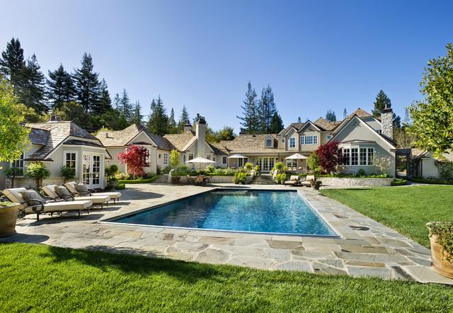 Atherton, California Estate by Markay Johnson Construction traditional-exterior