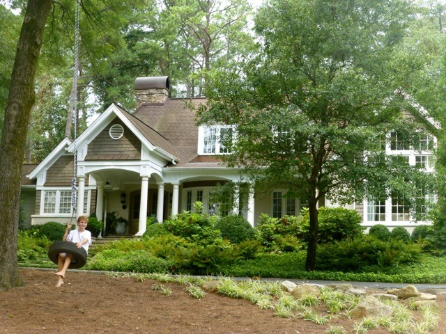 Atlanta Ranch Home Goes Country French Exterior