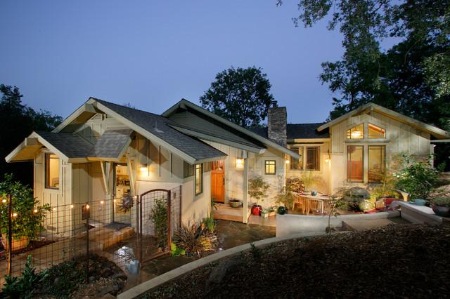 Auburn Hillside Home Traditional Exterior Sacramento By Sage Architecture Inc