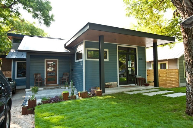 Austin small home remodel modern exterior denver for Renovate front of house