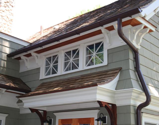 Award winning cape cod renovated into craftsman style home for Award winning craftsman home designs