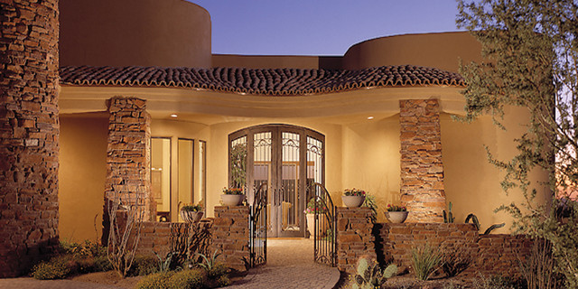 Az custom home southwestern exterior phoenix by for Century custom homes