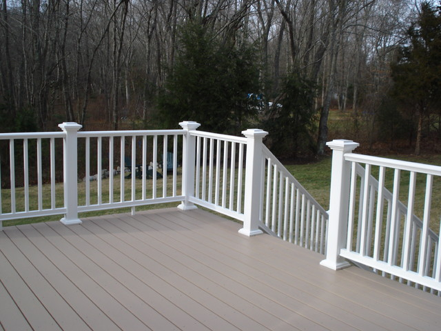 Composite deck white composite deck railings for White composite decking