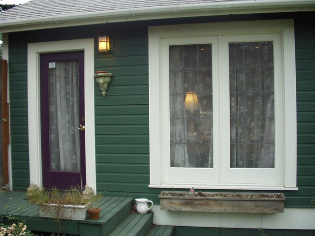 Backyard Artist's Studio and Media Room on Capitol Hill traditional-exterior