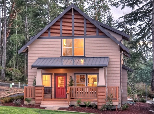 Bainbridge island home craftsman exterior seattle for Seattle house plans