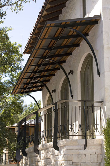 Balcony Wrought Iron Rail Traditional Exterior