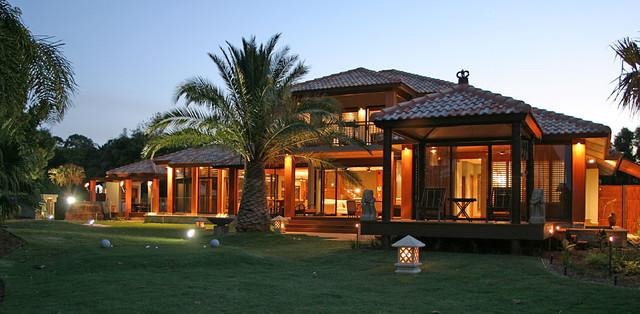 bali house tropical exterior brisbane by latitude