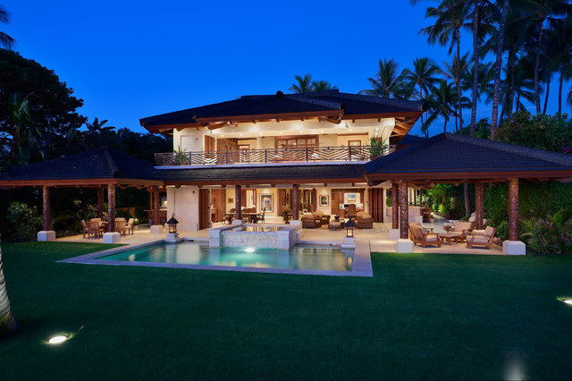 Bali house tropical exterior hawaii by rick ryniak for Home plans hawaii