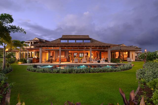 Bali Pavilions on Kauai tropical-exterior