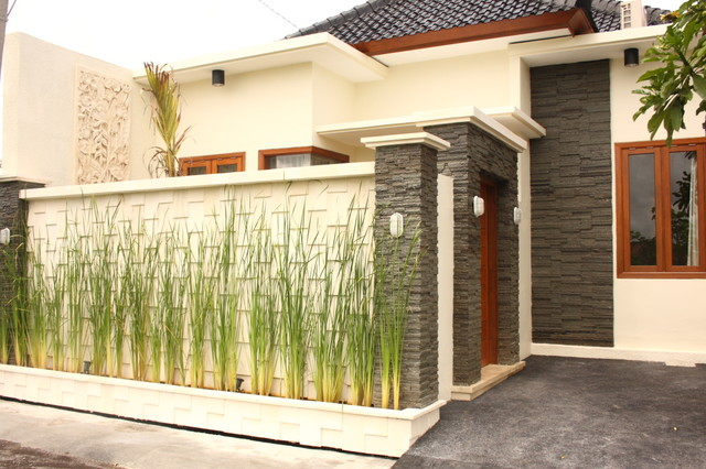 Bali townhouse to villa modern exterior other metro for Modern townhouse exterior