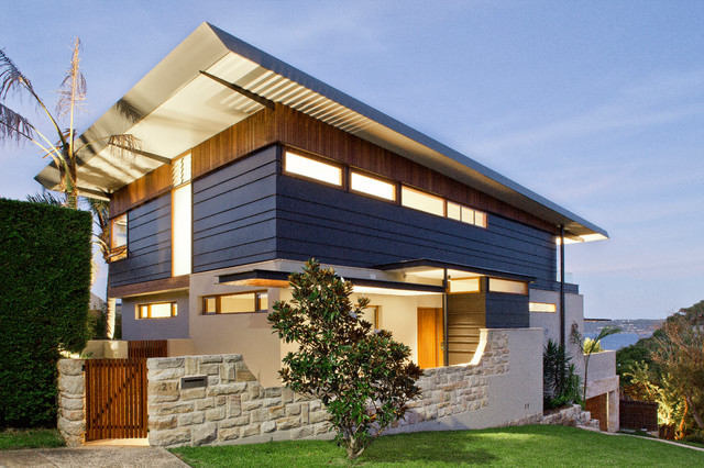 house contemporary exterior sydney by steele associates