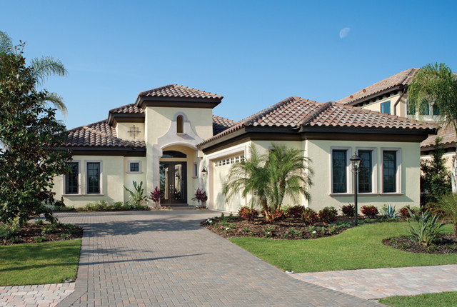 Bardmoor 1172 mediterranean exterior tampa by for Luxury custom homes plans