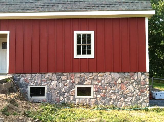 Barn House Stone Veneer Traditional Exterior Dc
