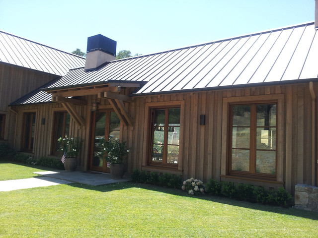 Barn Style House: Custom Windows and Doors traditional-kitchen