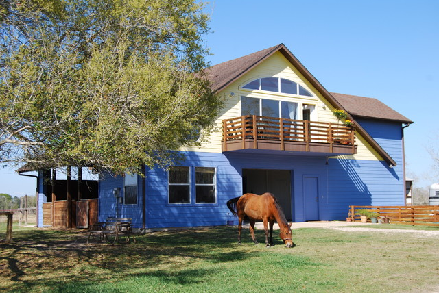 Barndominium in texas contemporary exterior houston for Barn houses in texas
