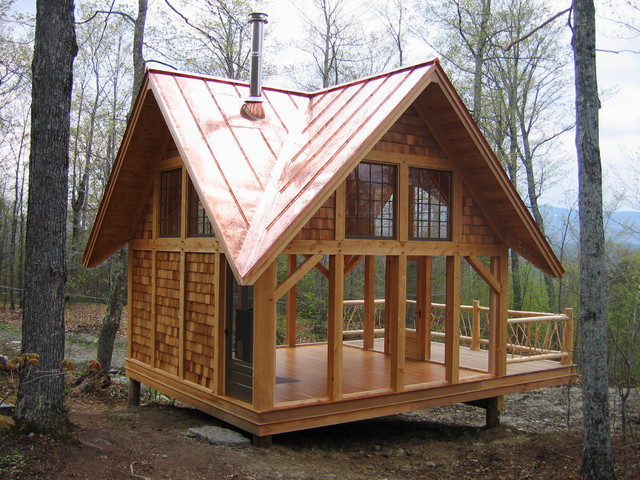 Timber tea house for Traditional garden buildings