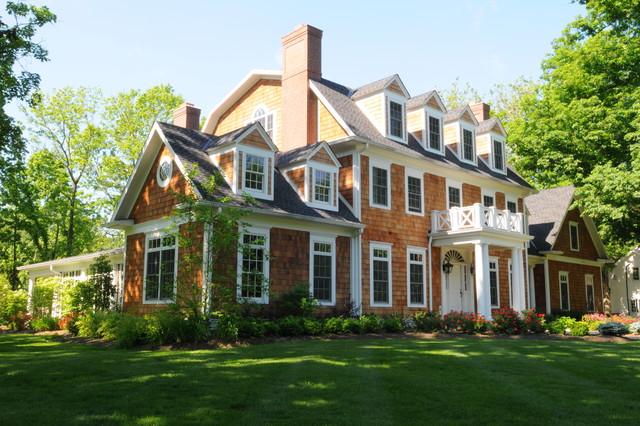Classic colonial traditional exterior cincinnati for Custom colonial homes