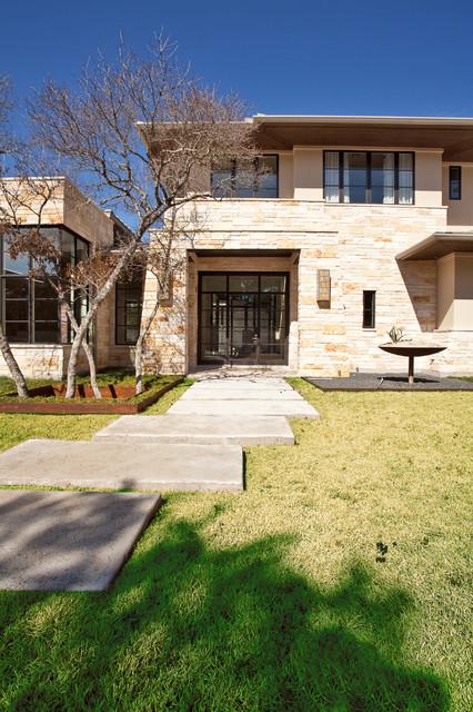 Barton Creek Residence Front Exterior contemporary-exterior