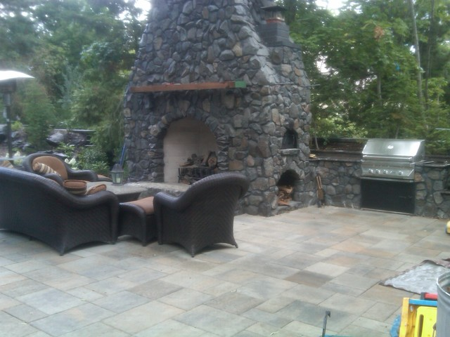 garden design with basalt oven south hill backyard makeover with coleus plant from