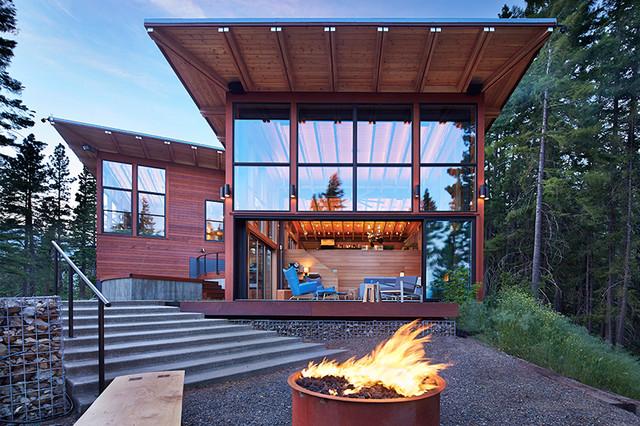 base camp modern living room seattle by johnston
