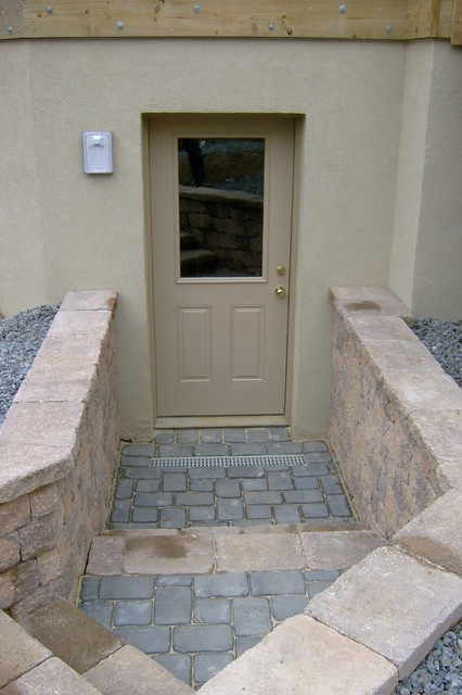 Basement Entry Traditional Exterior Philadelphia