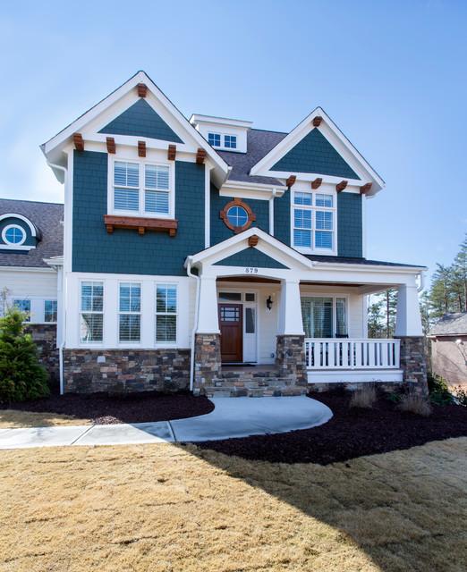 Baxter custom home craftsman exterior charlotte by for Craftsman homes in charlotte nc